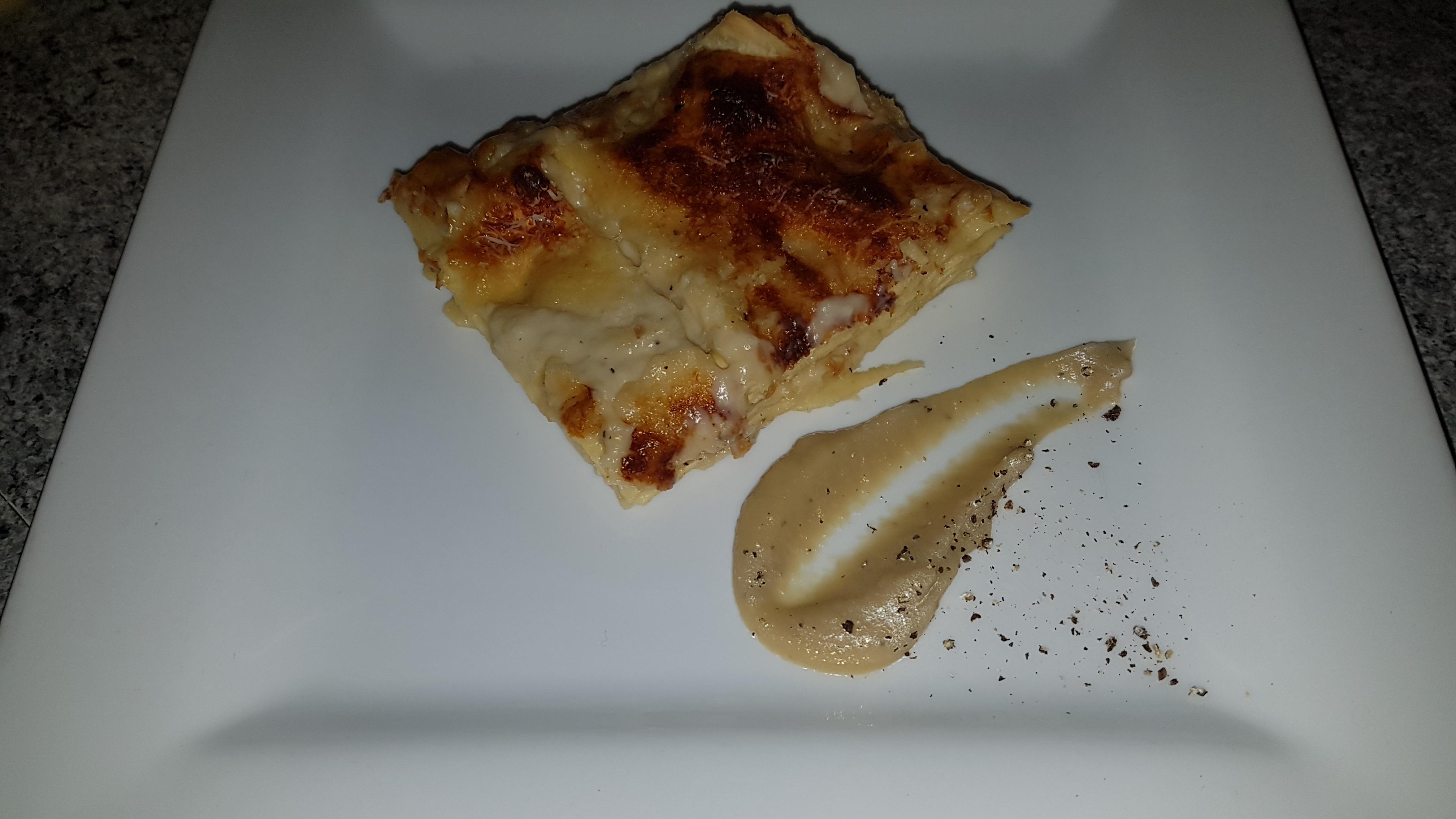 Lasagne alla crema di cipolle